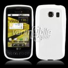 SOLID WHITE GLOSSY TPU CASE for LG OPTIMUS S