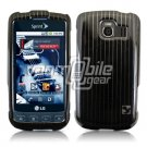 BLACK/SILVER VERTICAL STRIPES DESIGN CASE for LG OPTIMUS S