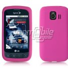 HOT PINK SOFT SILICONE SKIN CASE for LG OPTIMUS S
