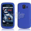 BLUE SOFT SILICONE SKIN CASE for LG OPTIMUS S