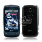 CLEAR HARD GLOSSY CASE for LG OPTIMUS S