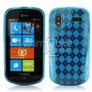 BLUE ARGYLE DESIGN TPU CASE for SAMSUNG FOCUS i917