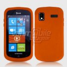 ORANGE SOFT SILICONE SKIN CASE for SAMSUNG FOCUS i917