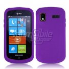 PURPLE SOFT SILICONE SKIN CASE for SAMSUNG FOCUS i917