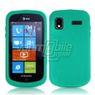 TURQUOISE SOFT SILICONE SKIN CASE for SAMSUNG FOCUS i917