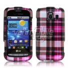 PINK PLAID DESIGN CASE for LG VORTEX