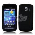 BLACK SOFT SILICONE SKIN CASE for LG VORTEX