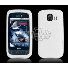 WHITE SOFT SILICONE SKIN CASE + Car Charger for LG OPTIMUS S
