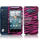 HTC Evo Shift 4G Pink/Black Zebra Design Hard 2-pc Plastic Case + Car Charger