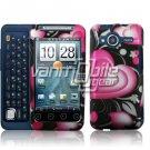 HTC Evo Shift 4G Pink/Black Hearts Design Hard 2-pc Plastic Case + Car Charger