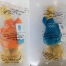 2004 Athens olympic games original 2 plush mascots (phoebus and athena) NEW