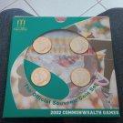 2002 commowealth games 4 set coins