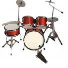 red miniature drum set decorative