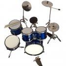 blue miniature drum set decorative