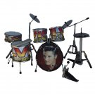Elvis miniature drum set decorative