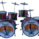 The Who miniature drum set decorative