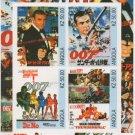 JAMES BOND 007 SEAN CONNERY SPY MOVIE  STAMPs