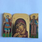 Triptych orthodox Christian wooden icon