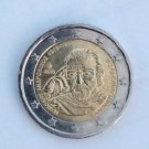 greek 2 euro coin from 2019 depicting manolis andronikos