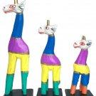 Wooden giraffe set of 3