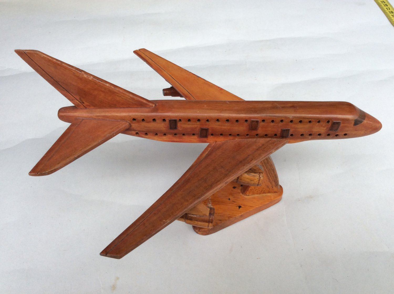 Wooden miniature airplane
