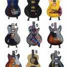 3X Miniature guitar decorative