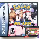 Pokemon My Ass (Teen / Mature) Custom Game + Case Gameboy Advance GBA  Fan Made Hack