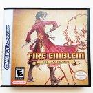Fire Emblem Last Promise - Game + Custom Case GBA Game Boy Advance English Fan Hack