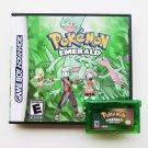 Pokemon Emerald Gameboy Advance GBA Custom Game / Case - USA Seller
