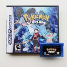 Pokemon Sapphire Gameboy Advance GBA Custom Game / Case - USA Seller