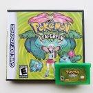 Pokemon Leaf Green Gameboy Advance GBA Custom Game / Case - USA Seller