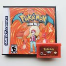 Pokemon FIre Red Gameboy Advance GBA Custom Game / Case - USA Seller