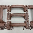 5 Antique Matte Rustic Brown Barn / Gate / Drawer Pull Handles