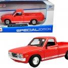 "1973 Datsun 620 ""Li'l Hustler"" Pickup Truck Orange with White Stripes ""Special Edition"""
