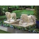 Regal Lion Garden Statue Set
