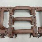 5 Antique Matte Rustic Brown Barn / Gate / Drawer Pull Handle
