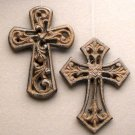 Unique Set of 4 Cast Iron Crosses