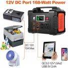 200W Portable Power Station, FlashFish 40800mAh Solar Generator with 110V