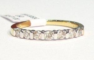 18K Yellow Gold 0.38cts. Diamond Wedding Band