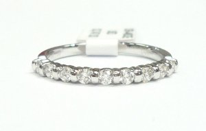 18K White Gold 0.31cts. Diamond Wedding Band