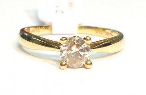 18K Yellow Gold 0.49 Diamond Solitare Ring