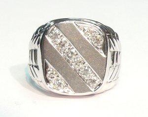 18K White Gold 0.36cts. Diamond Men's Ring