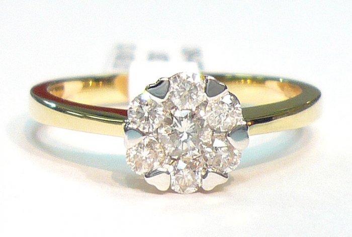 18K Yellow Gold 0.36cts. Diamond Ring