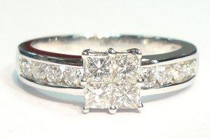 18K White Gold 0.75cts. Diamond Ring