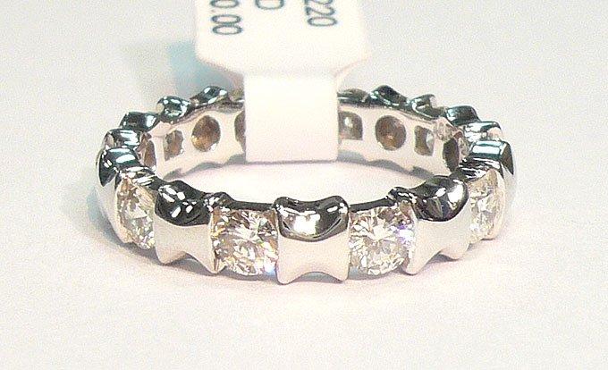 18K White Gold 1.32cts. Diamond Ring