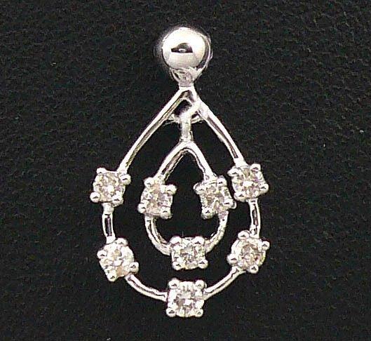 18K White Gold 0.24cts Diamond Pendant