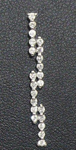 9K White Gold 0.30cts. Diamond Pendant