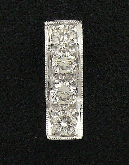 18K White Gold 0.63cts Diamond Pendant