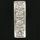 18K White Gold 0.63cts Diamond Pendant