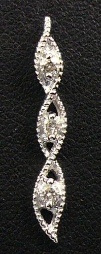 18K White Gold 0.13cts. Diamond Pendant